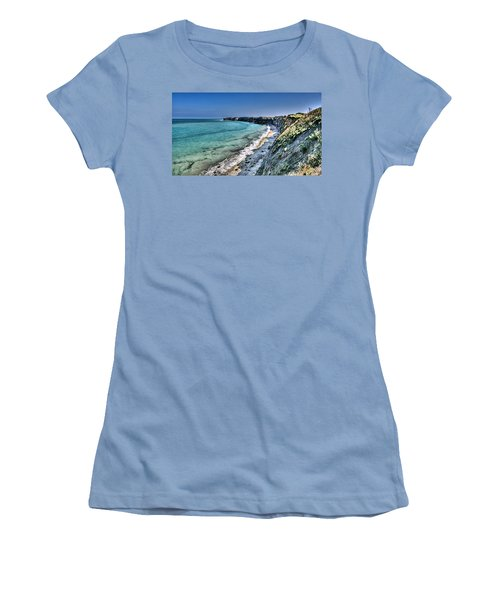 The Cliffs Of Pointe Du Hoc Women's T-Shirt (Athletic Fit)