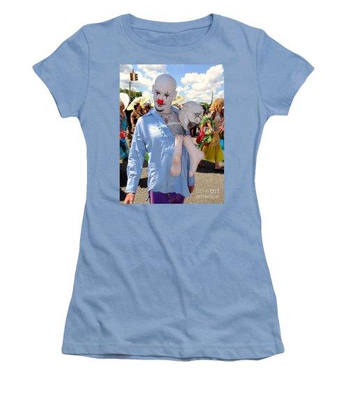 Women's T-Shirt (Junior Cut) featuring the photograph The Clown by Ed Weidman