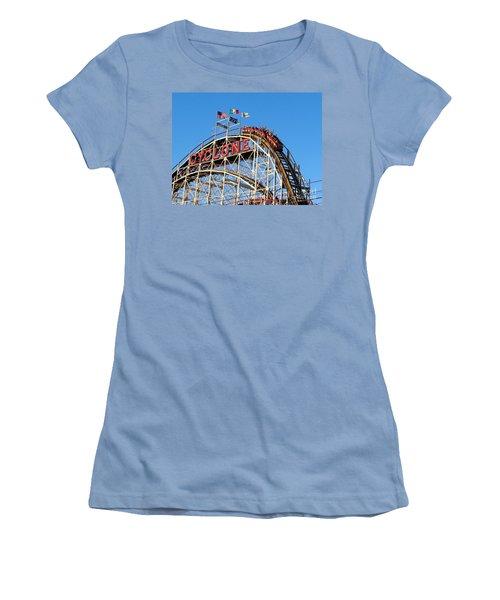 Women's T-Shirt (Junior Cut) featuring the photograph The Cyclone by Ed Weidman