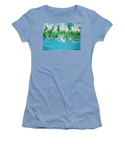 The Docks Women's T-Shirt (Junior Cut) by George Riney