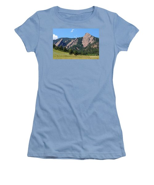 The Flatirons Women's T-Shirt (Athletic Fit)