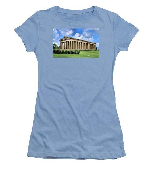 The Parthenon Women's T-Shirt (Junior Cut) by Kristin Elmquist