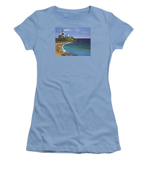 Women's T-Shirt (Junior Cut) featuring the painting The Point by Donna Blossom