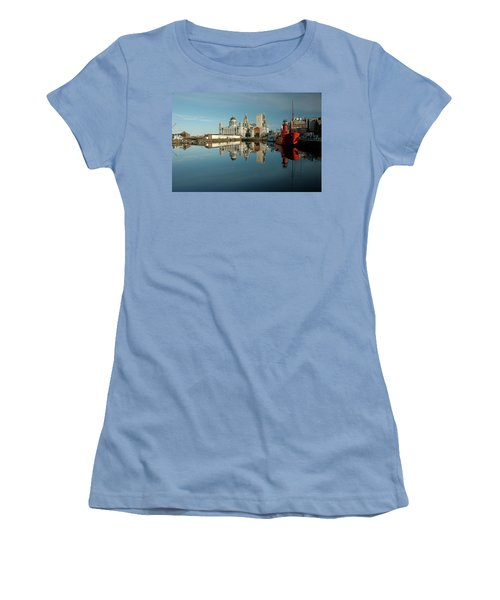 Women's T-Shirt (Junior Cut) featuring the photograph The Red Ship by Jonah  Anderson