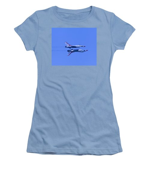 Thunderbirds Solos 6 Over 5 Inverted Women's T-Shirt (Junior Cut) by Donna Corless