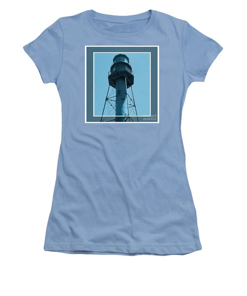 Women's T-Shirt (Junior Cut) featuring the photograph Top Of Sanibel Island Lighthouse by Janette Boyd