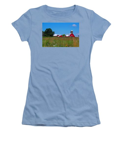 Women's T-Shirt (Junior Cut) featuring the photograph Touch Of Color by Dave Files