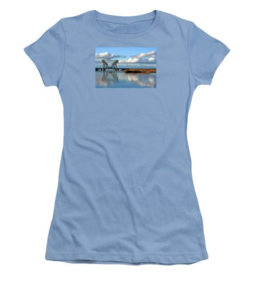 Train Bridge Women's T-Shirt (Junior Cut) by Chris Anderson