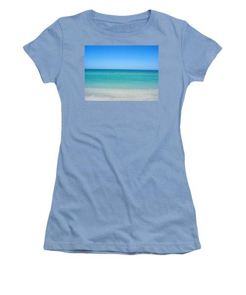 Women's T-Shirt (Junior Cut) featuring the photograph Tranquil Gulf Pond by David Nicholls
