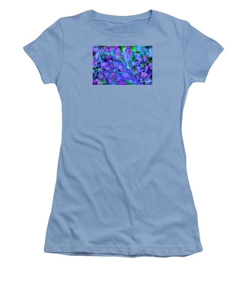 Women's T-Shirt (Junior Cut) featuring the digital art Tree Of Peace And Serenity by Sherri  Of Palm Springs