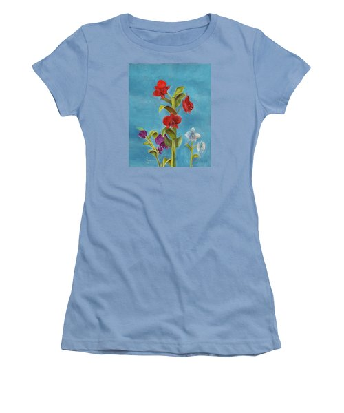 Women's T-Shirt (Athletic Fit) featuring the painting Tropical Flower by Thomas J Herring