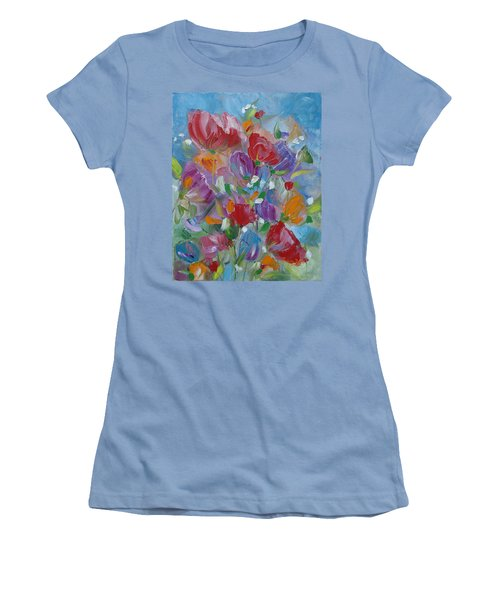Tulip Symphony Women's T-Shirt (Junior Cut) by Judith Rhue
