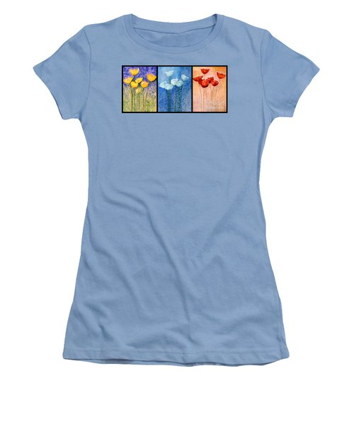 Tulips Collage  Women's T-Shirt (Athletic Fit)