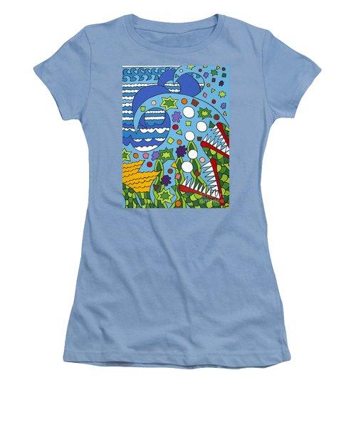 Tumbled Women's T-Shirt (Junior Cut) by Rojax Art