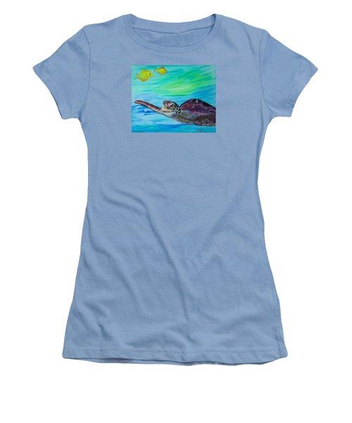 Traveling Through Women's T-Shirt (Junior Cut) by Meryl Goudey