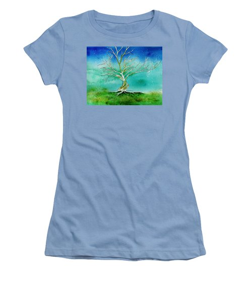Twilight Tree Women's T-Shirt (Athletic Fit)