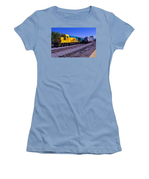 Two Trains Women's T-Shirt (Athletic Fit)