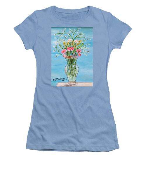 Women's T-Shirt (Junior Cut) featuring the painting Un Segno by Loredana Messina
