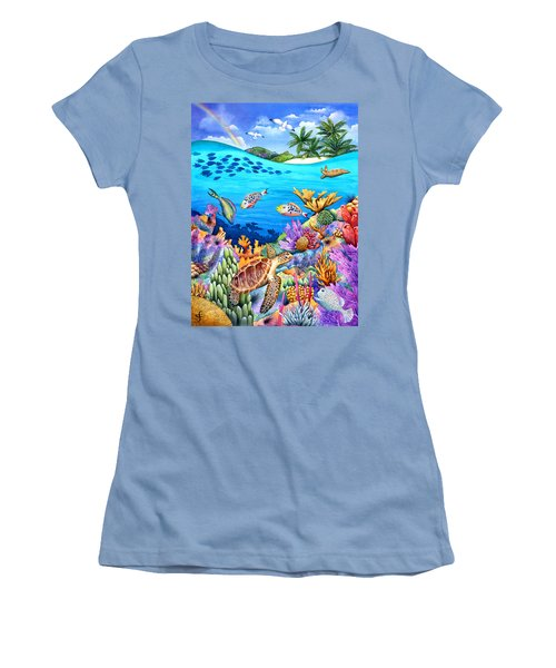 Under The Rainbow Women's T-Shirt (Athletic Fit)