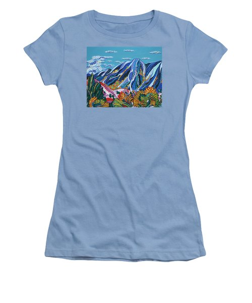 Up To The Mountains Women's T-Shirt (Athletic Fit)