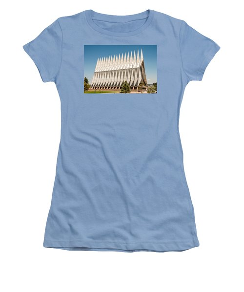 Women's T-Shirt (Junior Cut) featuring the photograph Air Force Academy Chapel by Sue Smith