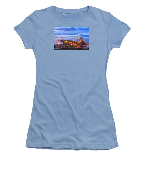 Uss Yorktown Museum Women's T-Shirt (Junior Cut) by Jerry Fornarotto