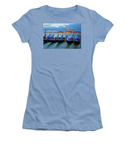 Venice View To San Giorgio Maggiore Women's T-Shirt (Junior Cut) by Heiko Koehrer-Wagner