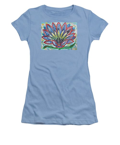 Women's T-Shirt (Junior Cut) featuring the painting Hawaiian Blossom by Diane Pape