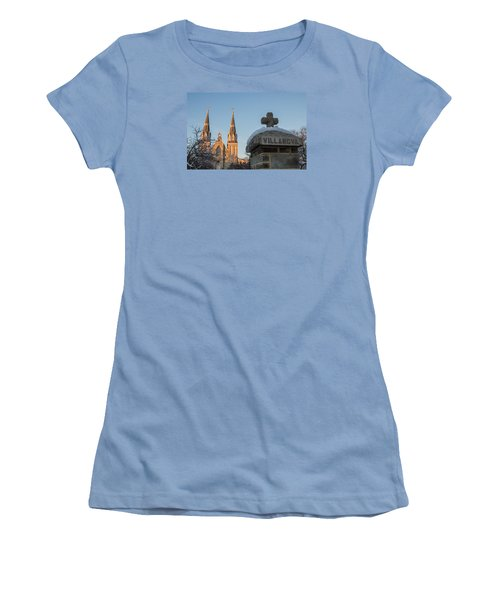 Villanova Wall And Chapel Women's T-Shirt (Junior Cut) by Photographic Arts And Design Studio