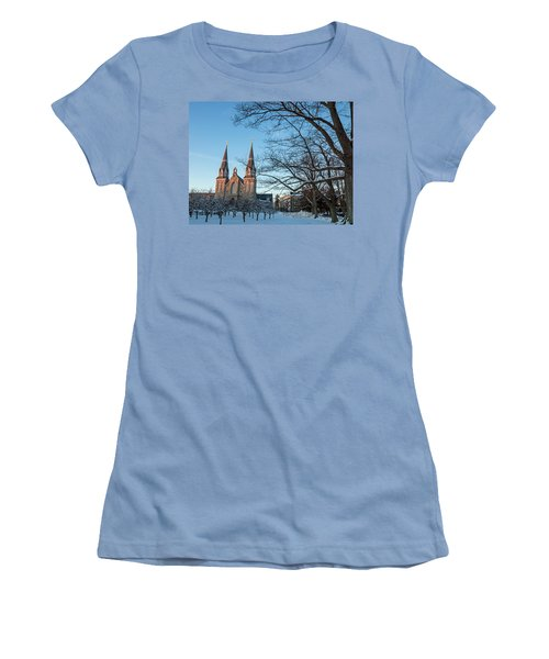 Villanova Winter Saint Thomas Women's T-Shirt (Junior Cut) by Photographic Arts And Design Studio