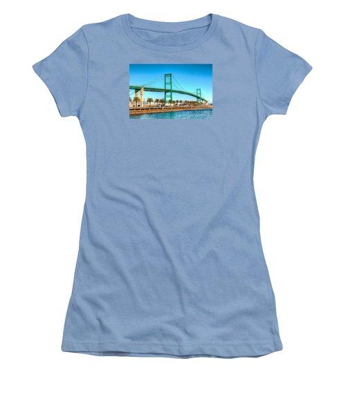 Vincent Thomas Bridge Women's T-Shirt (Junior Cut) by Jim Carrell