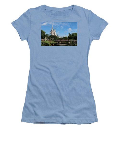 Walt Disney World Orlando Women's T-Shirt (Junior Cut) by Pixabay
