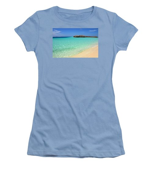 Warm Welcoming. Maldives Women's T-Shirt (Junior Cut) by Jenny Rainbow