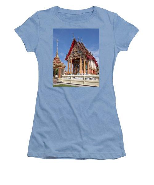 Women's T-Shirt (Junior Cut) featuring the photograph Wat Choeng Thalay Ordination Hall Dthp138 by Gerry Gantt