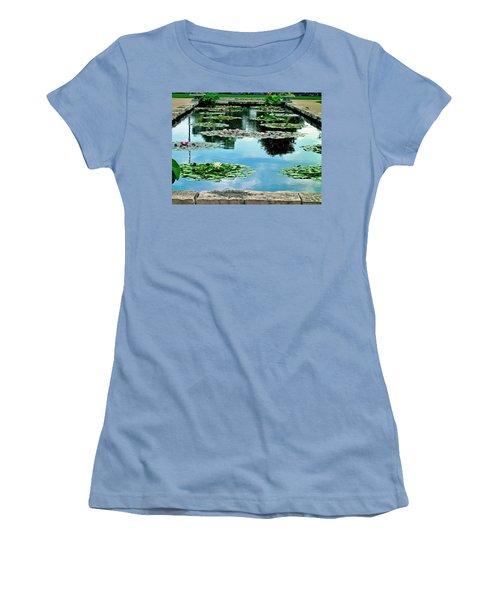 Water Lily Garden Women's T-Shirt (Junior Cut) by Zafer Gurel