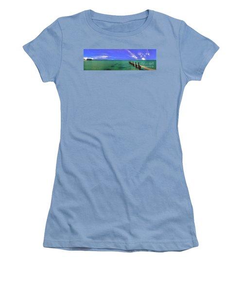 Women's T-Shirt (Junior Cut) featuring the photograph Western Australia Busselton Jetty by David Zanzinger