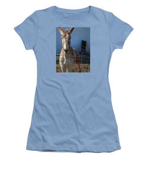 Women's T-Shirt (Junior Cut) featuring the photograph What's Up by Nadalyn Larsen