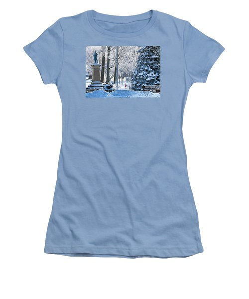 Whitehouse Village Park  7360 Women's T-Shirt (Junior Cut) by Jack Schultz