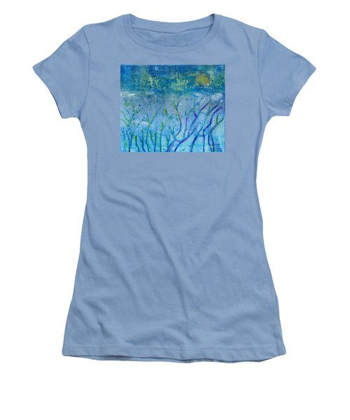 Winter Forest In Moonlight Women's T-Shirt (Athletic Fit)