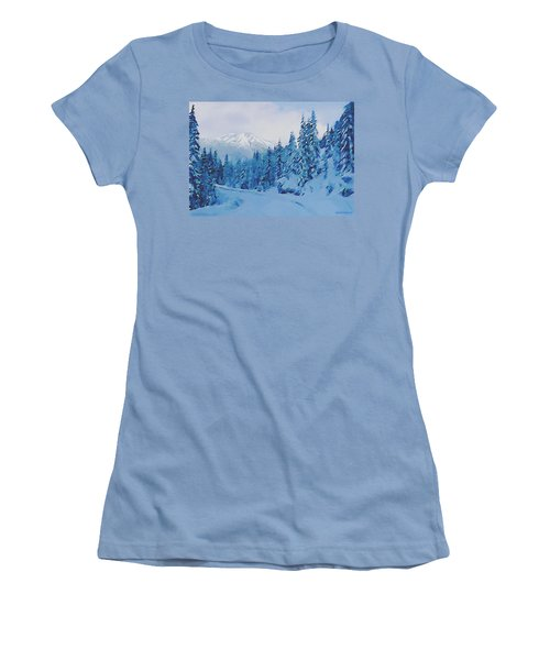 Winter Road Women's T-Shirt (Junior Cut) by Sophia Schmierer