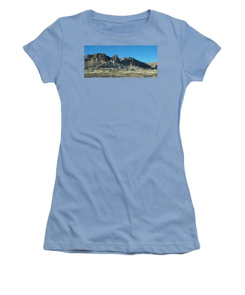 Women's T-Shirt (Junior Cut) featuring the photograph Western Landscape by Eunice Miller