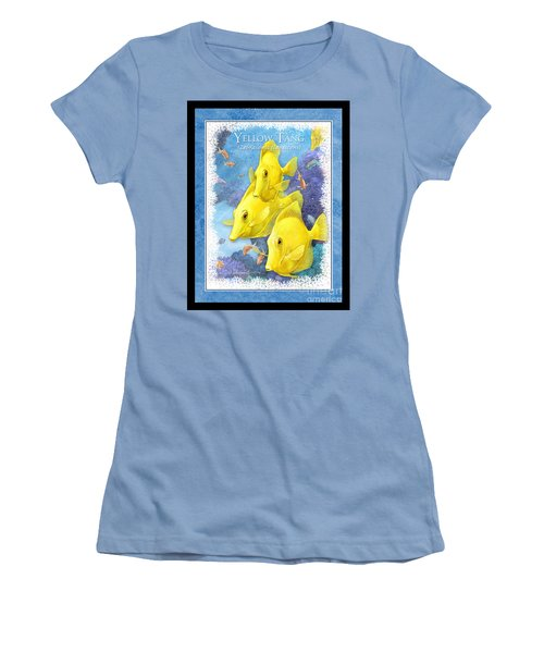Yellow Tang Women's T-Shirt (Athletic Fit)