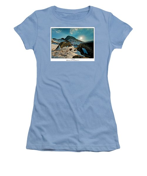 Spring Snows At Tryfan Women's T-Shirt (Junior Cut) by Beverly Cash