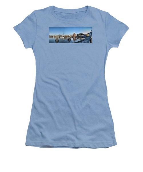 Cardiff Bay Panorama Women's T-Shirt (Junior Cut) by Steve Purnell