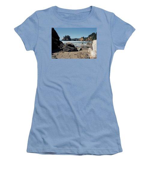 Women's T-Shirt (Junior Cut) featuring the photograph Trinidad Beach by Sharon Elliott