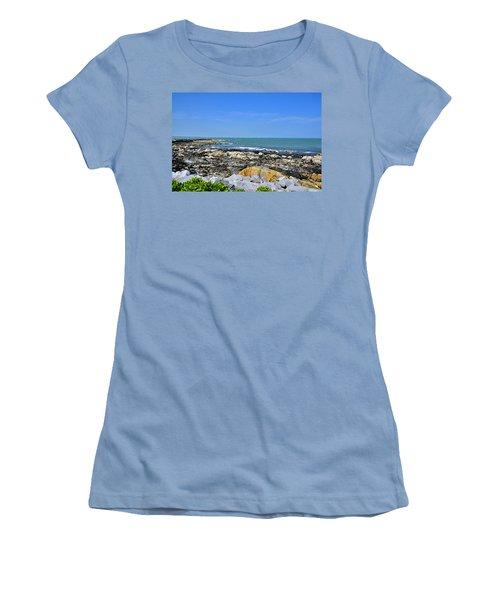 A Blue Skerries Sky Women's T-Shirt (Junior Cut) by Martina Fagan