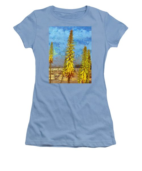 Aloe Vera Flowers Women's T-Shirt (Athletic Fit)