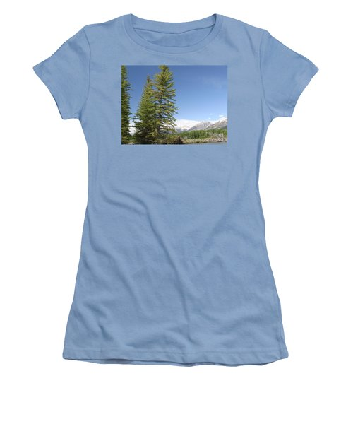 America The Beautiful Women's T-Shirt (Junior Cut) by Living Color Photography Lorraine Lynch