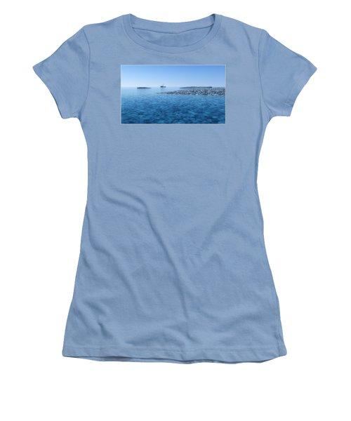 Women's T-Shirt (Junior Cut) featuring the digital art Blue Infinity... by Tim Fillingim