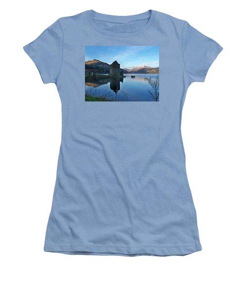 Women's T-Shirt (Junior Cut) featuring the photograph Carrick Castle by Lynn Bolt